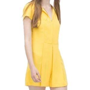 Canary Yellow Zara Trafaluc Playsuit Romper